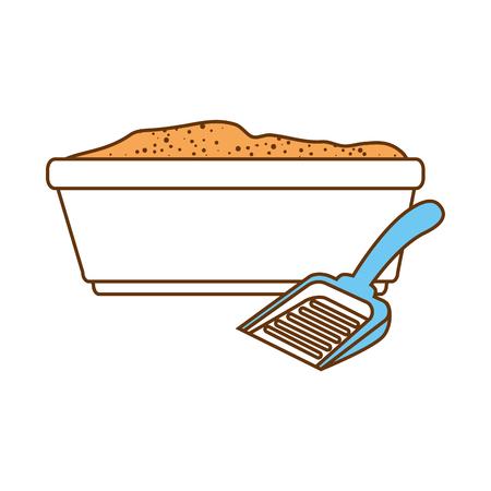 Ilustración de Sandbox cat with shovel vector illustration design - Imagen libre de derechos
