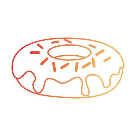 Ilustración de Delicious and sweet donut vector illustration design - Imagen libre de derechos