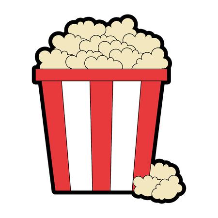 Ilustración de Delicious pop corn icon vector illustration design. - Imagen libre de derechos