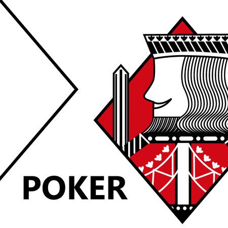 Illustration pour Poker card gambling king with sword in sign diamond vector illustration - image libre de droit