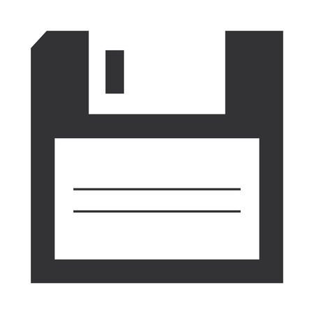 Illustration pour Floppy disk storage icon vector illustration design. - image libre de droit