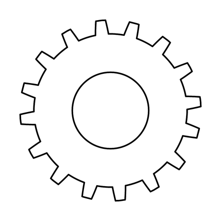 Ilustración de Gears machinery icon vector illustration design - Imagen libre de derechos