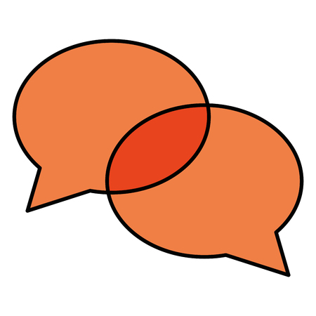 Ilustración de Orange speech bubble message icon illustration design - Imagen libre de derechos