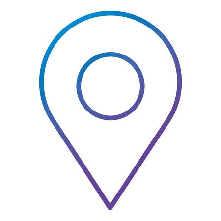 Illustrazione per A pin pointer location icon vector illustration design - Immagini Royalty Free