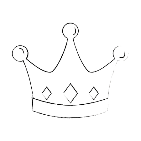 Illustration for Crown icon - Royalty Free Image