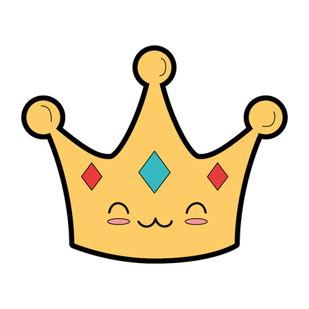 Illustration for Crown character - Royalty Free Image