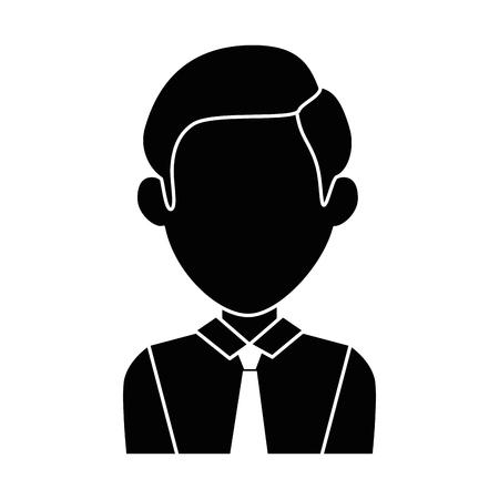 Illustration pour businessman avatar character icon vector illustration design - image libre de droit