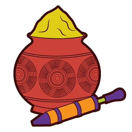 Ilustración de powder  mud pot and for celebration vector illustration  - Imagen libre de derechos