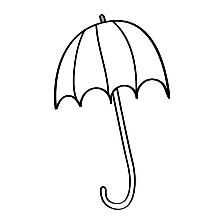 Ilustración de open umbrella protection climate accessory season vector illustration outline design - Imagen libre de derechos