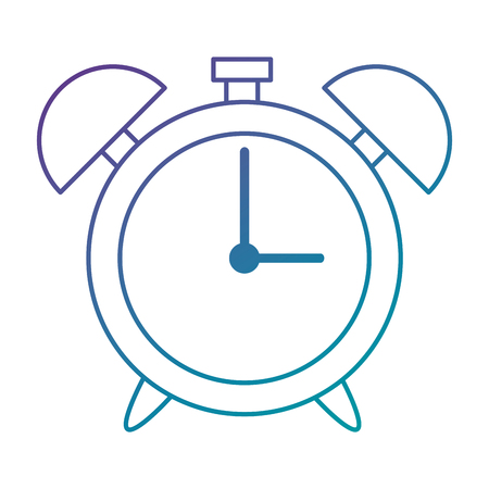 Illustration for alarm clock isolated icon vector illustration design - Royalty Free Image