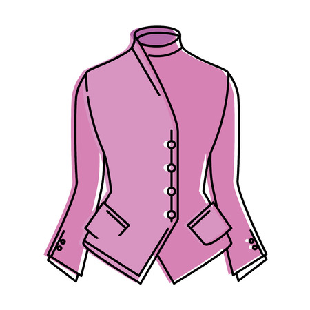 Ilustración de elegant blouse for women vector illustration design - Imagen libre de derechos
