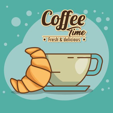 Ilustración de delicious coffee time elements vector illustration design - Imagen libre de derechos