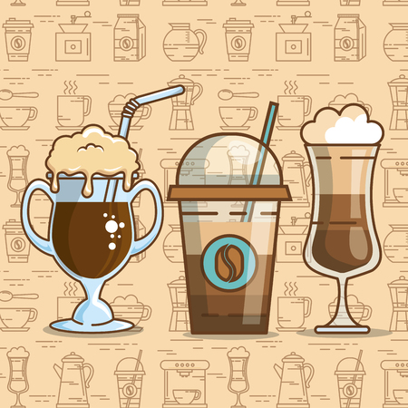 Illustration for Delicious coffee time elements vector illustration design. - Royalty Free Image