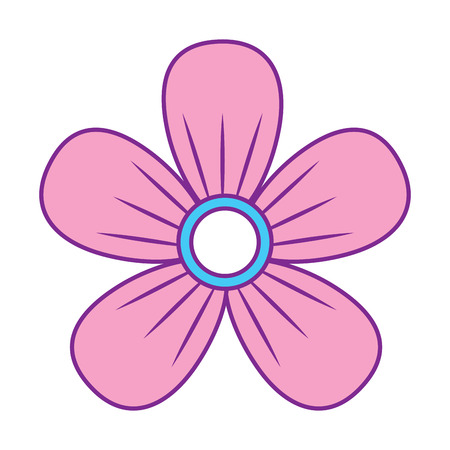 Illustration for flower decoration ornament natural vector illustration pink and blue design - Royalty Free Image
