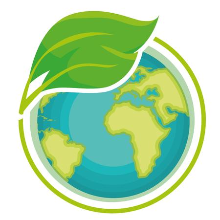 Ilustración de go green world planet vector illustration design - Imagen libre de derechos