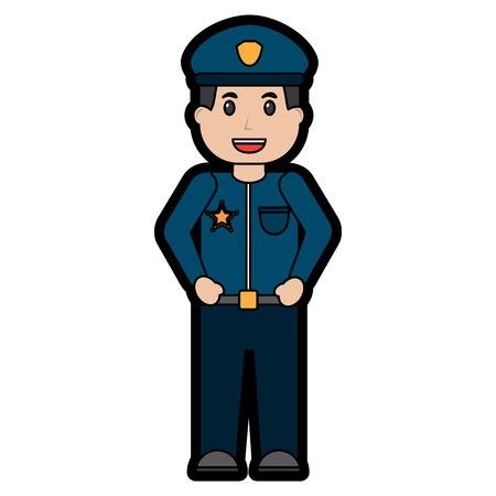 Ilustración de policeman smiling icon image vector illustration design - Imagen libre de derechos