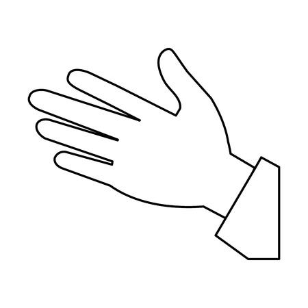 Ilustración de Linear style of human palm icon vector illustration design - Imagen libre de derechos