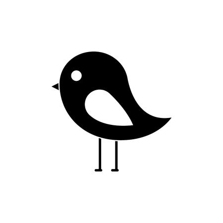 Ilustración de bird cartoon icon image vector illustration design  black and white - Imagen libre de derechos