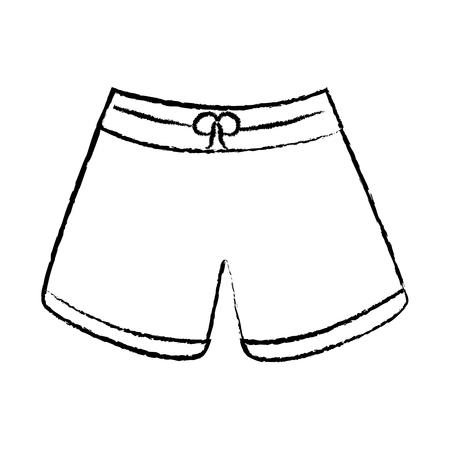 Illustrazione per trunks bathing suit man icon image vector illustration design  black sketch line - Immagini Royalty Free