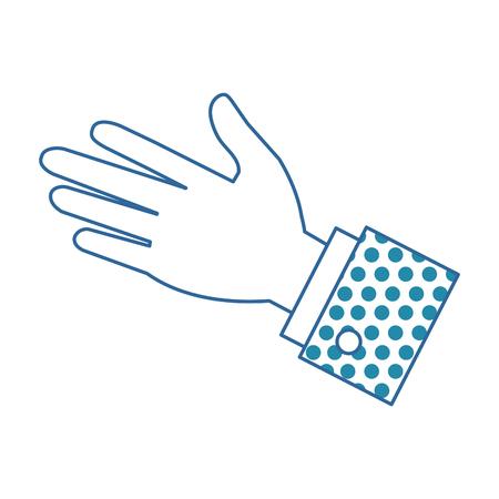 Ilustración de A hand human palm icon vector illustration design - Imagen libre de derechos