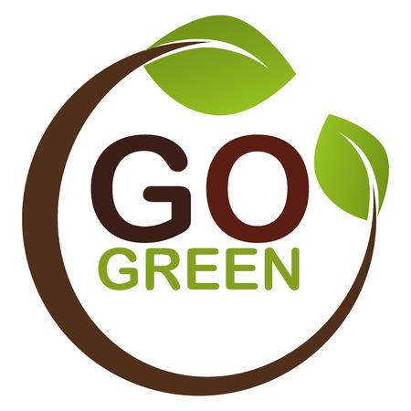 Ilustración de go green leaves plant vector illustration design - Imagen libre de derechos