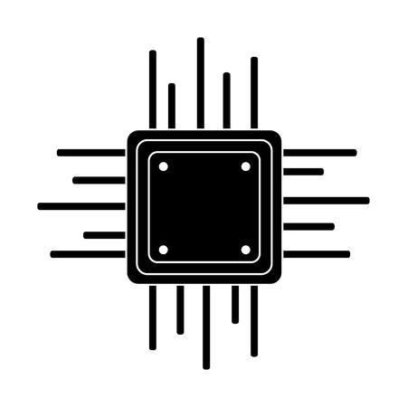 Illustration pour motherboard circuit software electrical technology vector illustration pictogram design - image libre de droit