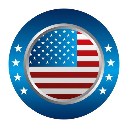 Illustration pour United States of America button vector illustration - image libre de droit