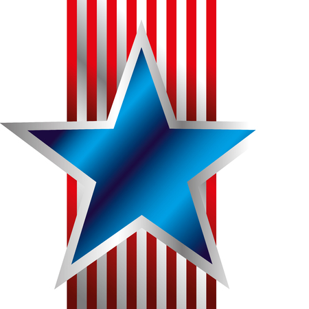 Illustration pour Blue Star with stripes background vector illustration - image libre de droit