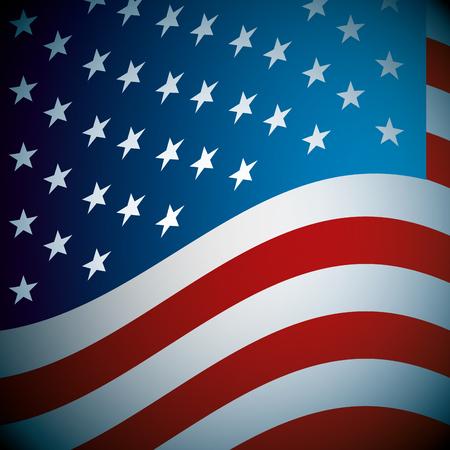 Illustration for flag of united states patriotism national symbol vector illustration - Royalty Free Image
