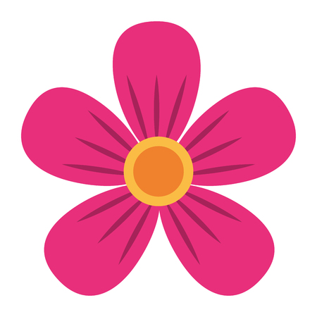Illustration for pink flower decoration ornament natural vector illustration - Royalty Free Image