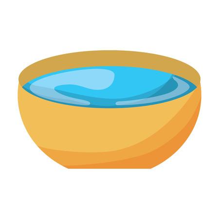 Ilustración de bowl of water vector illustration - Imagen libre de derechos
