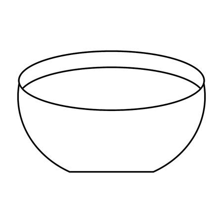 Ilustración de bowl water fresh liquid clean icon vector illustration outline image - Imagen libre de derechos
