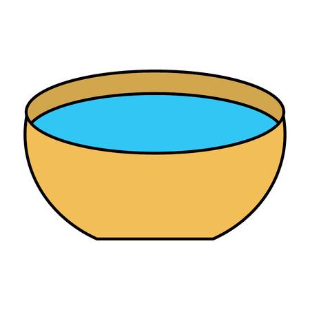 Ilustración de bowl water fresh liquid clean icon vector illustration - Imagen libre de derechos