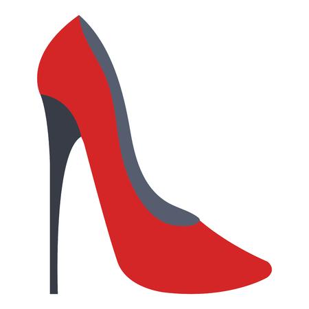 Illustration pour A high heeled elegant shoe icon vector illustration design - image libre de droit