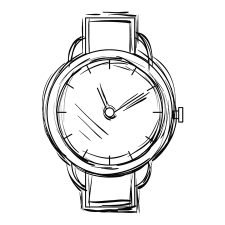 Ilustración de Wristwatch elegant isolated icon vector illustration design - Imagen libre de derechos