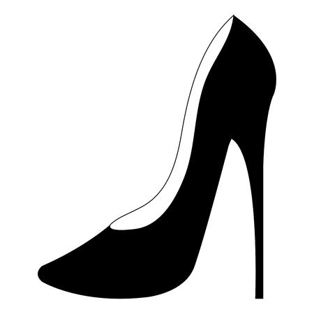 Illustration pour femenine shoe heel elegant icon vector illustration design - image libre de droit