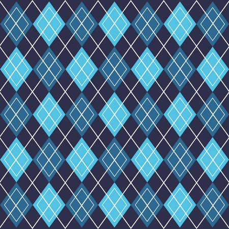 Illustration pour background blue rhombus fashion vintage decoration pattern vector illustration - image libre de droit