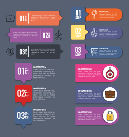 Ilustración de business infographic template icons vector illustration design - Imagen libre de derechos