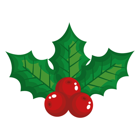 Illustration for leafs and seeds christmas decoration vector illustration design - Royalty Free Image