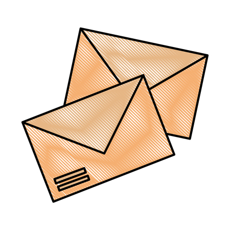 Ilustración de envelopes mail isolated icon vector illustration design - Imagen libre de derechos
