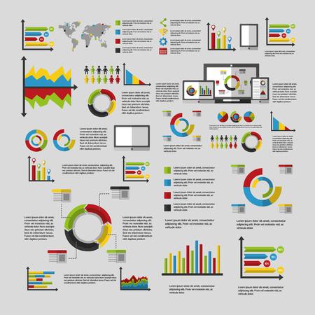 Illustration pour business statistics graph demographics population chart people infographic technology vector illustration - image libre de droit