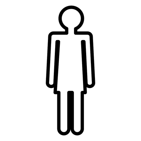 Illustration for Human figure female silhouette icon vector illustration design. - Royalty Free Image