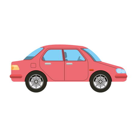 Illustration pour Red sedan car icon. - image libre de droit