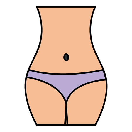 Ilustración de Female waist figure icon vector illustration design - Imagen libre de derechos