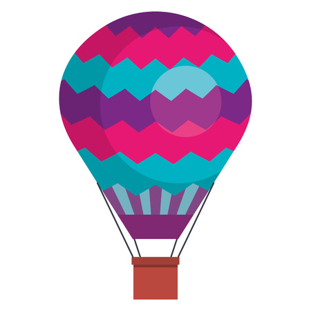 Illustration pour balloon air hot flying vector illustration design - image libre de droit