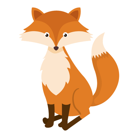 Foto de cute and tender fox vector illustration design - Imagen libre de derechos