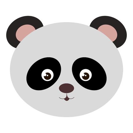 cute and tender bear panda head vector illustration design