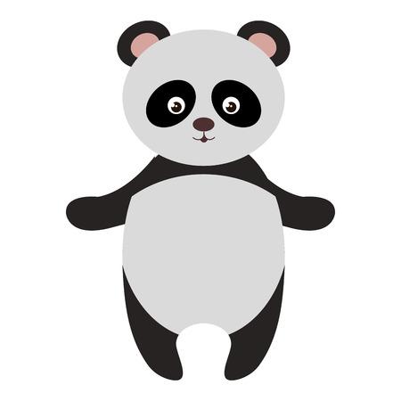 cute and tender bear panda vector illustration design