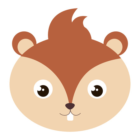 cute and tender chipmunk head vector illustration design