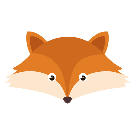 Illustration pour cute and tender fox head vector illustration design - image libre de droit